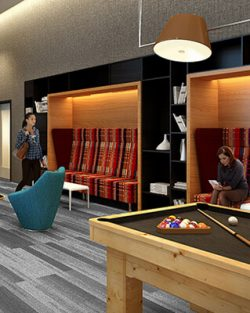 Gather with friends and neighbors over a game of pool in our onsite game room.