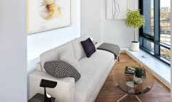 Vue32 Luxury apartments Living area Couch